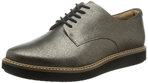 Clarks Glick Darby, Chaussures de ville femme Beige (Champagne)