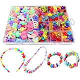 Bead Kids DIY Play Set For Jewelery Making - Craft Beads kits For Little Girls DIY Necklaces Bracelet Children Games Colorful