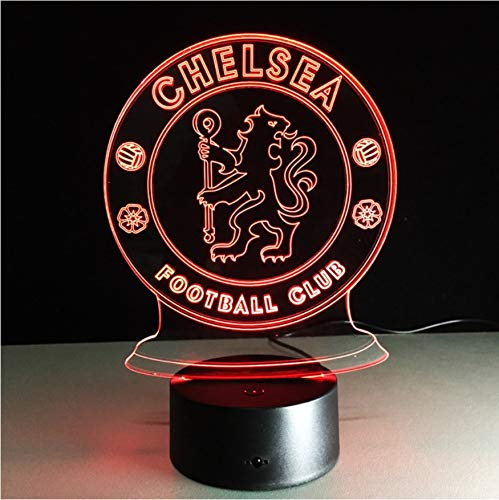 3D Nachtlichter Led Chelsea Football Club 3D Nachtlicht Kreative Elektrische Illusion Lampe 7 Farben Ändern Usb Touch Schreibtischlampe -