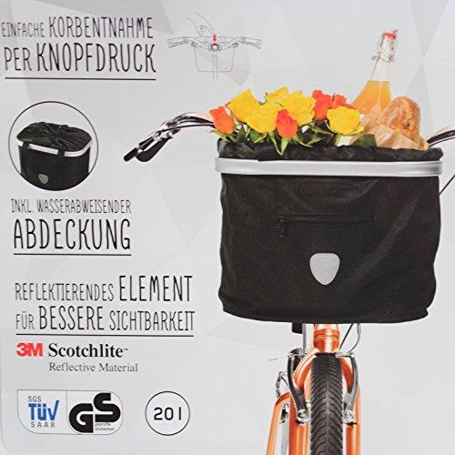 Fitnessmarke Lenker Fahrradkorb EASY SHOPPER Alu-Rahmen faltbar Tasche Bike Rad Basket SCHWARZ Uni Black ~yx 659 1642