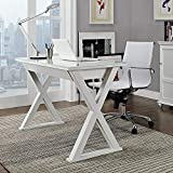 wooden history Furniture 36'' Storage Computer Desk, White
