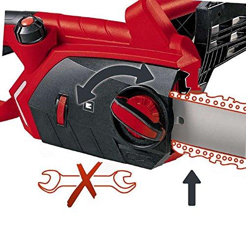 Einhell Elektro Kettensäge GE-EC 2240 (2200 Watt, 375 mm Schnittlänge, Oregon Kette und Qualitätsschwert, Softstart, Rückschlagschutz und Kettenfangbolzen) - 5