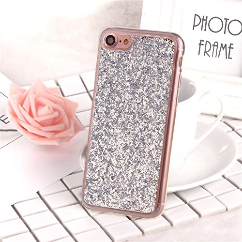 Paillette Coque pour iPhone 6S,iPhone 6 Bling Liquide Coque,iPhone 6 Bling Glitter Coque Etui Dual Layer Plastic Coque Liquide Cases Covers,EMAXELERS iPhone 6S Case Bling Glitter Flowing Etui,iPhone 6 A TPU 18