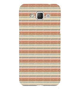 ifasho Designer Phone Back Case Cover Samsung Galaxy Grand Max G720 ( Orange Black Yellow Colorful Pattern Design )