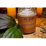 Cozy Glow Patchouli Soja Kerze Jar - 35 + Stunden Burning Time