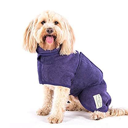 Ruff and Tumble Dog Drying Coat - Classic Collection (XXXS, Brick Red) 8