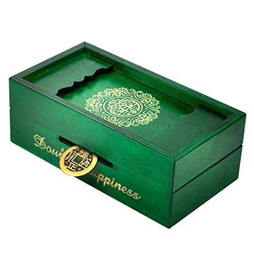 ANNA SHOP Holz Puzzle Box Geheimnis Trick Intelligenz Fach Magic Geld Geschenk Box Gehirn Teaser Logik pädagogisches Spielzeug (Puzzle-box Geschenk)