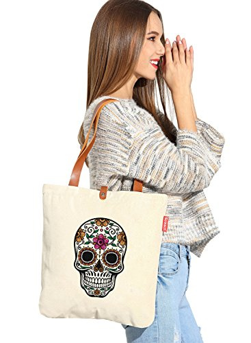 So 'each da donna Floral Skull Graphic