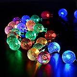 Liqoo® Solaire Guirlande à LED 9M Globe Ball 50 LED Eclairage Multicolores Étanche Ampoule Extérieure Lumière Décoratif pour Jardin, Fête, Noël, Outdoor, Balcon, Vitrine, etc.