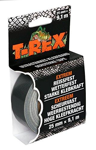 T-Rex Tape 821-25 Gewebeband - Extrem starkes Panzertape - Wasserdichtes Reparaturband für innen & außen - Klebeband zum Reparieren & Befestigen - 25mm x 9,10m -