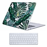 Cover MacBook Air 13 Costodia , iCasso Palm Leaf Ultra Sottile Plastica Rigida Shell Snap On Duro Case per MacBook Air 13 pollici (Modelli: A1369 / A1466)