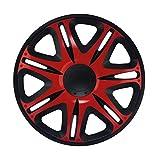 16 Zoll Radzierblenden NASCAR RED (Rot mit Schwarz). Radkappen passend für fast alle OPEL wie z.B. Corsa D