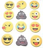 12 X HAFTNOTIZ Smiley Emoji Kackhaufen Zwinker Kuss Set by schenkfix