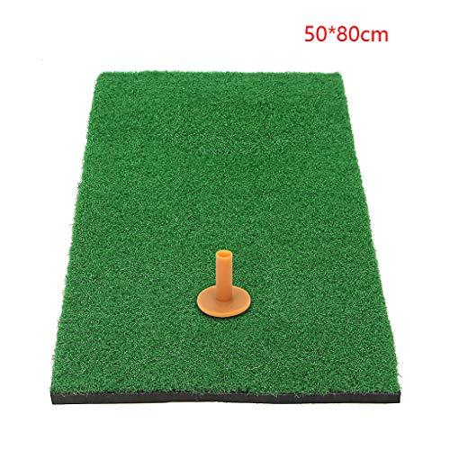Pandiki Golf Putting Trainingsmatte langlebiges Gut Leicht Nylon Turf Chipping Nylon Rasenmatte Chipping Driving Driving Range Practice Pad -