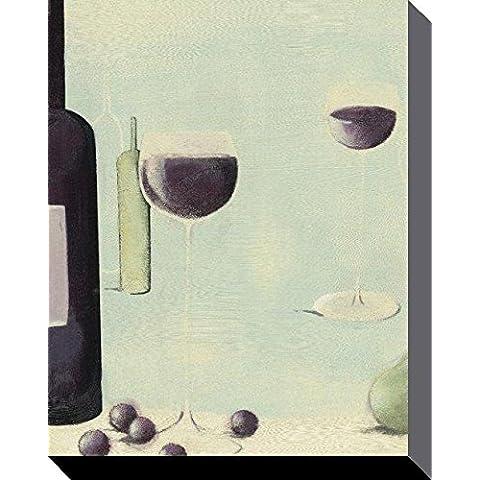 Nicola Evans Vino Rojo Con Forma De Pera Canvas, poliéster, multicolor, 40x 50cm