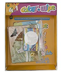 Aaryan Enterprise 4 in 1 Series 1 Color and Wipe Crayons, Multi Color