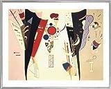 Wassily Kandinsky Poster Kunstdruck und Kunststoff-Rahmen - Accord Réciproque, 1942 (50 x 40cm)