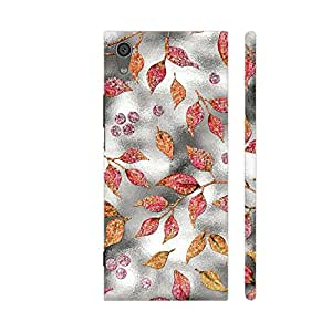 Colorpur Autum Leaves Silver Metal 1 Artwork On Sony Xperia XA1 Cover (Designer Mobile Back Case) | Artist: UtART