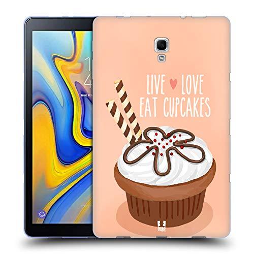 Head Case Designs Schokolade Waffeln Cupcake Freude Soft Gel Hülle für Samsung Galaxy Tab A 10.5 (2018)