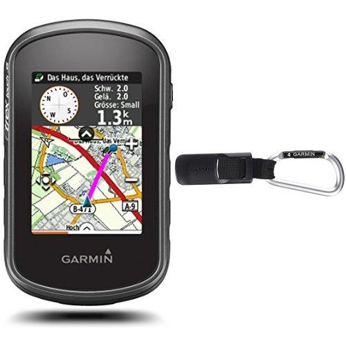 Garmin eTrex Touch 35 Fahrrad-Outdoor-Navigationsgerät - mit vorinstallierter Garmin TopoActive Karte, Smart Notifications und barometrischem Höhenmesser & Garmin Karabiner-Halterung