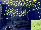 Baanuse adesivi luminosi a forma di stelle, da parete, per cameretta dei bambini, per grandi e piccoli,fluorescenti e brillanti al buio, 200 pz