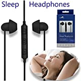 Hibermate Sleep Headphones. Stereo, Sound-Isolating Ear Buds WTH 3 Interchangeable Tips For Any Ear Size. Use For Sleeping, Sport, Work Outs - Earbuds Include In-line Volume Control And Mic.