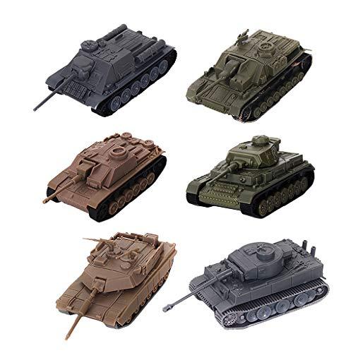 perfeclan 6 STK. Armee Militär Panzer Flugzeug Spielzeug Spielset (Armee Spielzeug-panzer)