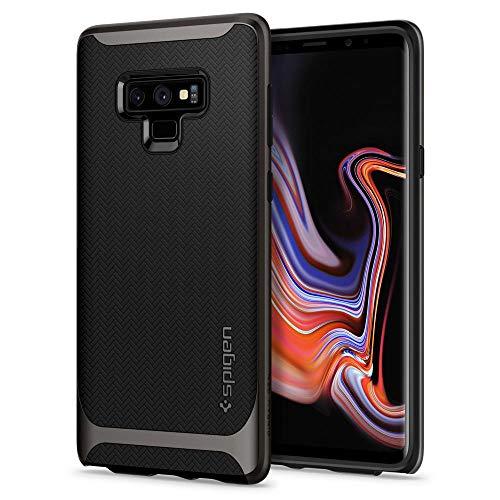 Spigen [Neo Hybrid Samsung Galaxy Note 9 Hülle (599CS24577) Zweiteilige Handyhülle Modische Muster Silikon Schale und PC Rahmen Schutzhülle Case (Gunmetal)