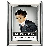 Bilderrahmen Venezia für 10x15 cm Fotos aus Silber Plated versilbert