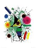 Kunstdruck 'Der singende Fisch', von Joan Miró, Größe: 60 x 80 cm