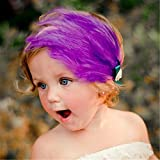 Süß Baby Kind Säugling Feder Diamant Blumen Stirnband Haarband Haarschmuck Violett