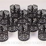 Led Papier Votiv Kerzenständer Teelichthalter 48 Schwarz Farbige Dekorative Kerzenhalter / Halter für Flammenlose Teelichter und Votivkerzen