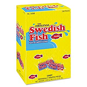 Swedish fish candy individually wrapped 46 5 oz 240 bx for Swedish fish amazon