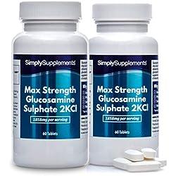 Sulfato de Glucosamina Máxima Potencia - ¡Bote para 2 meses! - 120 Comprimidos - SimplySupplements