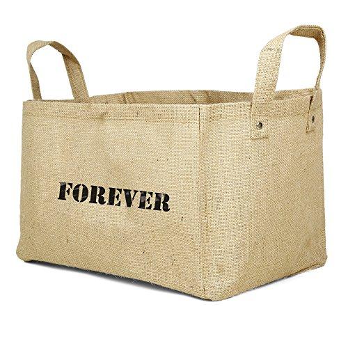 Savon Jute Basket, Small Natural Laundry Basket Forever