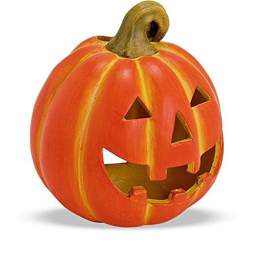 loween Kürbis Windlicht Laterne Halloweendeko Herbstdeko 17x20 cm aus Ton (Halloween Kürbis)