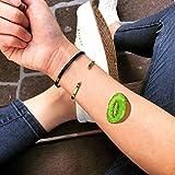 kiwi etiqueta engomada falso temporal del tatuaje (Juego de 2) - TOODTATTOO.COM