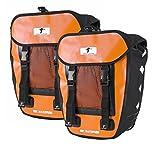 Red Loon 2X Pro Packtasche Fahrradtasche Gepäckträgertasche LKW-Plane Wasserdicht (Orange/Schwarz)