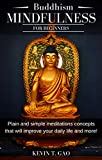 Image de Buddhism Mindfulness for Beginners: Plain and simple meditations and concepts that will im