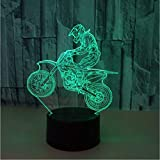Moto motocycle farbe veränderbar led 3d illusion visuelle nachtlicht kreative schlafzimmer dekoration licht novelty lampe geschenk