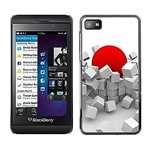 Smartphone-Schutzhülle Hartschalen-Tasche Hülle HandyHülle für Mobiltelefon Blackberry Z10 / CECELL Phone case / / Red Japan Sun Abstract Deep /
