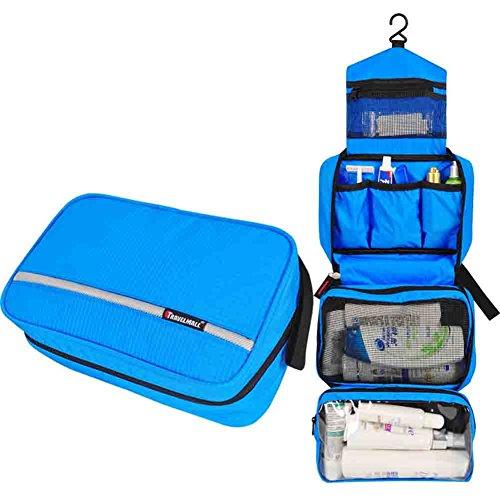Outdoor gancio grande capacità portatile sacchetto della lavata di corsa impermeabile regalo a portata di mano trousse vacanza appeso (blu)