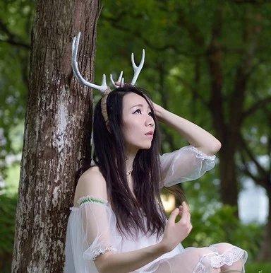 Minicolla Christmas Reindeer Elk Ears Antler Headband, Big white