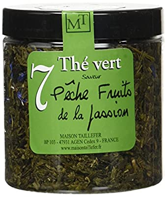 Maison Taillefer Thé Vert Pêche Fruit de la Passion Pot 70 g - Lot de 4