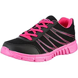 Sparx Women's Black Mesh and Synthetic Leather Running Shoes - 5 UK