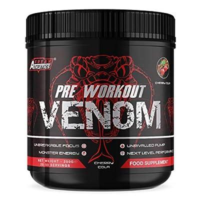 Pre Workout Venom 'Cherry Cola' - Pump Pre Workout Supplement by Freak Athletics - Elite Level Pre Workout Supplement - Pre Workout Powder Made in The UK - Available in Cherry Cola by Freak Athletics