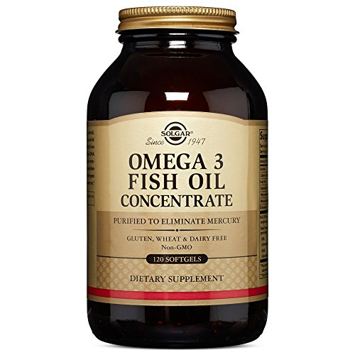 Solgar Omega-3 Fish Oil Concentrate Supplement, 120 Count by Solgar