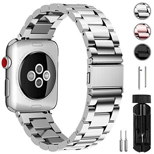 Watch Armband 38mm, Rostfreier Edelstahl Watch Ersatzband für iWatch/Apple Watch Serie 3 Serie 2 Serie 1,38mm Silber ()