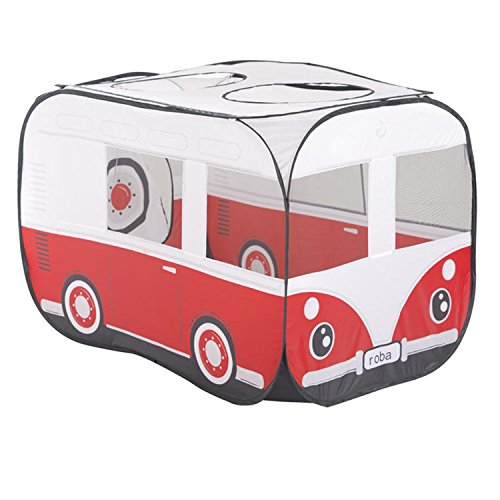 roba Spielbus, Pop-Up Spielzelt, Kinderzelt 'Retro Bus' gross, inkl. Tasche - Bus
