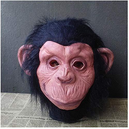 qiaoaoa Lustige Latex Halloween Schimpanse AFFE Ball Maske Erwachsene Tier kostüm Kopf Party Cosplay Dress Full face Maskerade Masken (Zombie Schimpansen Kind Kostüm)